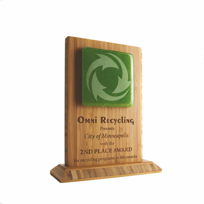Bamboo Eco Award With Recycled Glass Fab