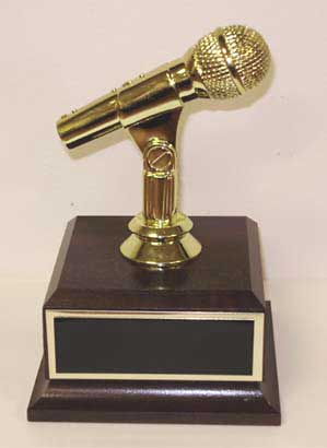 The Golden Microphone The Golden Mic Trophy Microphone Award