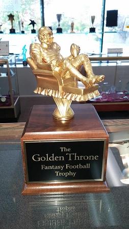 Fantasy Football Golden Throne Trophy