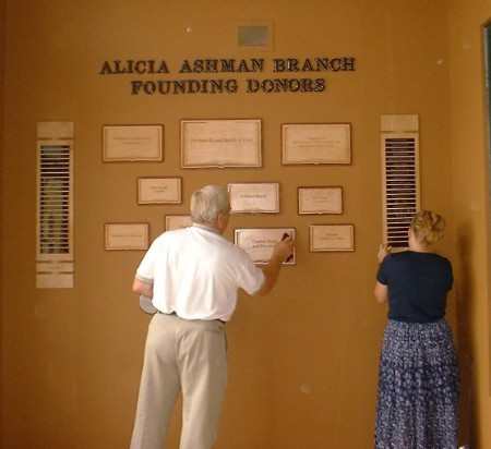 Library Book Donor Wall