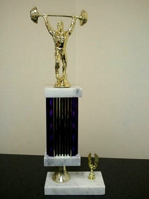 The Champion Lifter Recycled Joke Trophy