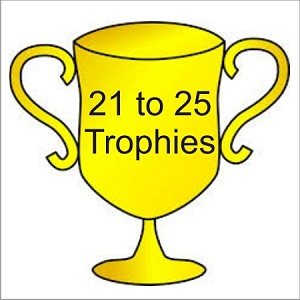 21 to 25 Trophies for Recycling