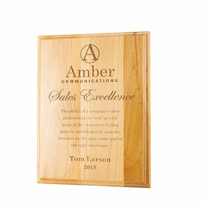 Alder Wood Eco-Friendly Plaques