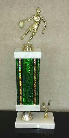 Recycled Basketball Trophy