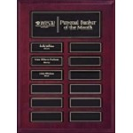 Mahogany 12 Plate Pop-In Perpetual Plaque