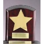Gold Star Rosewood Plaque