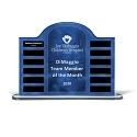 Blue Steel Contoured Acrylic Perpetual Standing Plaque