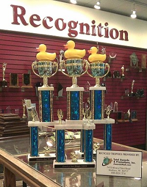Recycled Trophies For 501c3 Non-Profits