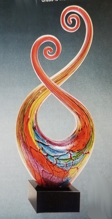 Multi Colored Spiral Twist
