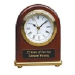 Rosewood Dome Clock