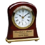 Rosewood Bell Shaped Desk Clock