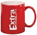 Red Ceramic Round C-Handle Mug -Personalized