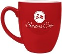 Red Ceramic Bistro Mug- Personalized