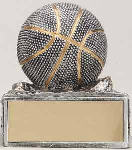 Pewter & Gold Basketball Resin Trophy