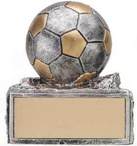 Pewter & Gold Soccer Resin Trophy