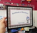 Clear Acrylic Certificate Holder