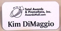 One Color Recyclable Aluminum Name Tag