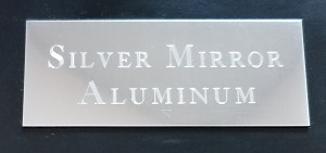 Engraved Silver Mirrored Aluminum Plate