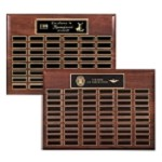 Walnut 48-60 Plate Perpetual Plaque