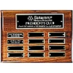 High Gloss Walnut 12-Plate Perpetual Plaque - Horozontal