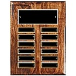 High Gloss Walnut 12-Plate Perpetual Plaque
