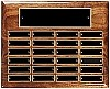 High Gloss Walnut 24-Plate Perpetual Plaque - Horizontal