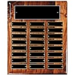 High Gloss Walnut 24-Plate Perpetual Plaque