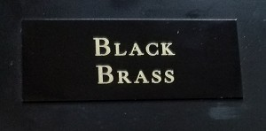 Engraved Black Brass Plate