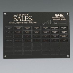 Black Granite 48 Plate Perpetual Plaque Horizontal
