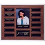Wood Perpetual Photo Plaque 12 Plate