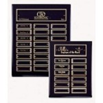 Black Pianowood Perpetual Plaque  -Gold Accents