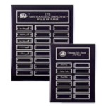 Black Pianowood Perpetual Plaque- Silver Accents