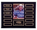 Black Pianowood Perpetual Photo Plaque 12 Plate -Gold Accent