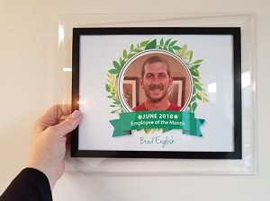 Employee of the Month Slide-in Plaque Frames
