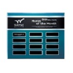 Blue Steel Acrylic Perpetual Plaque