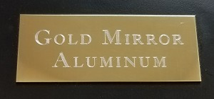 Engraved Gold Mirrored Aluminum Plate