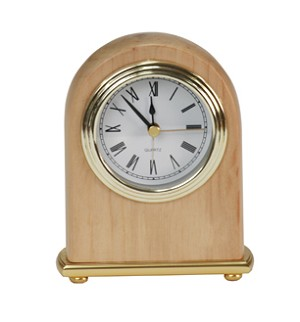 Red Alder Dome Clock