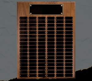 Walnut 84 Plate Perpetual Plaque