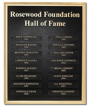 Hall of Fame Donor Plaque