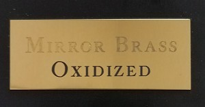 Engraved Mirrored Gold Brass Plate