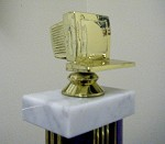 Technology Award  -Computer Monitor- Recycled Joke Trophy