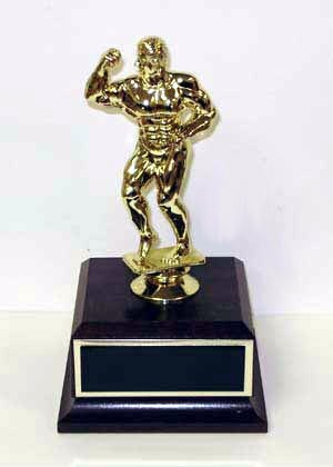 Golden Muscle Man Champions Award - Joke Trophy