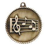Music High Relief Medals 2