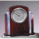 Rosewood and Chrome Clock