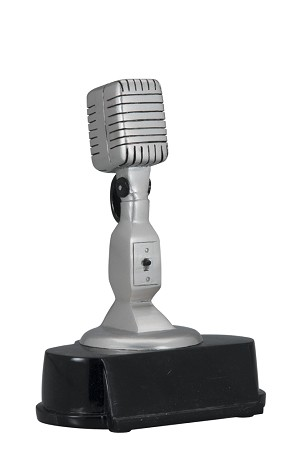 Vintage Silver Microphone Award