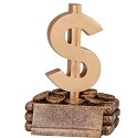 Dollar Sign Money Trophy