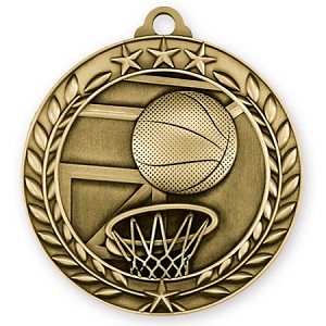 Basketball Medallion in 3D Design 2 3/4""