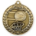 Basketball Medallion in 3D Design 2 3/4