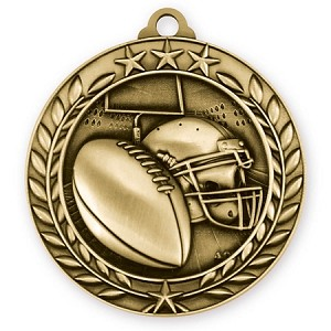 Football Medallion in 3D Design 2 3/4""