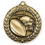 Football Medallion in 3D Design 2 3/4